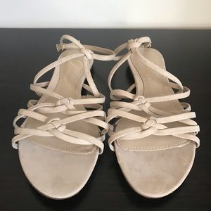 Delman nude suede strappy sandals, US 6, brand new